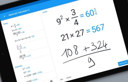 MyScript Calculator 2:  la calculatrice magique arrive sur Android