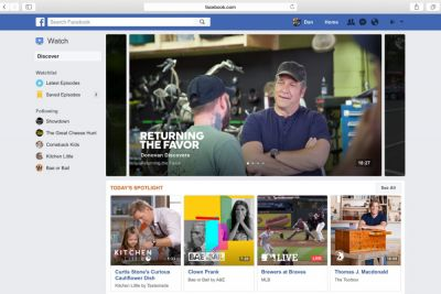 Facebook lance « Watch » pour concurrencer Youtube