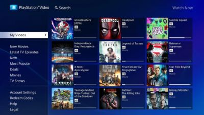 Sony PlayStation Video vient enrichir l'offre Android TV