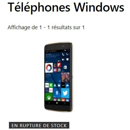Plus de Windows Phone à vendre sur le Microsoft Store