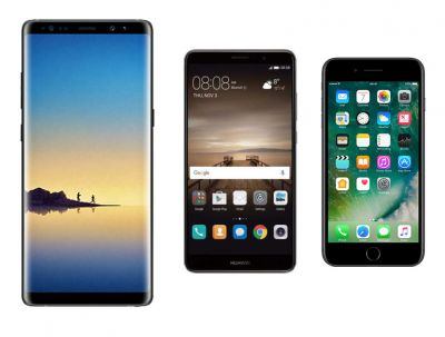 Samsung Galaxy Note 8 vs Apple iPhone 7 Plus vs Huawei Mate 9:  quelle est la meilleure phablette ?