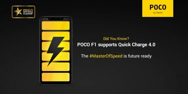 Pocophone F1 prend en charge Quick Charge 4.0