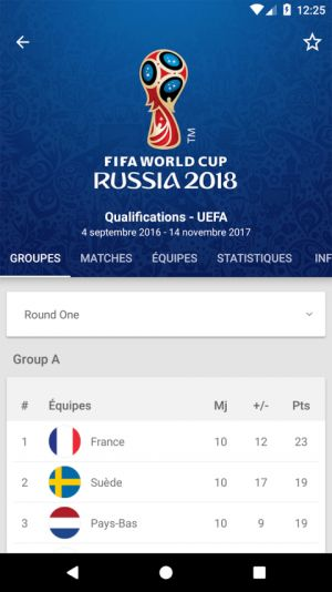Téléchargez l'application officielle de la Coupe du Monde 2018