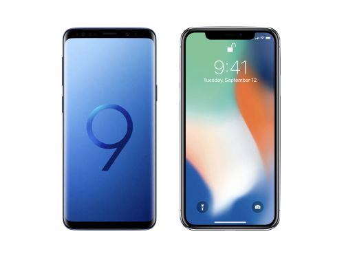 Baston Youtube:  le match Samsung Galaxy S9 vs iPhone X