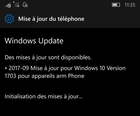 Mise à jour mensuelle de Windows 10 Mobile disponible