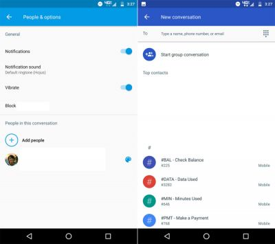 Android Messages:  la nouvelle version simplifie les conversations de groupe