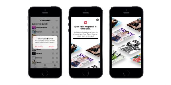 Apple News Magazine:  une version bêta sur iOS 12.2