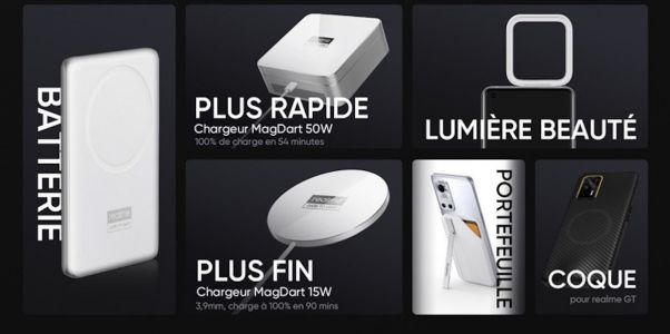MagDart:  Realme officialise ses chargeurs magnétiques ultra-rapide
