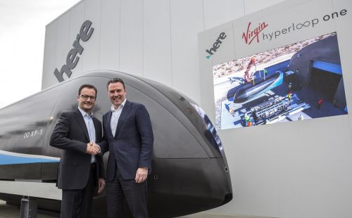 Navette ultra-rapide:  comment Virgin Hyperloop One a croisé le chemin de HERE