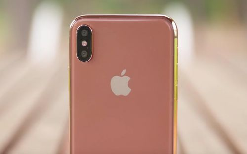 La production de l'iPhone X version gold aurait débuté