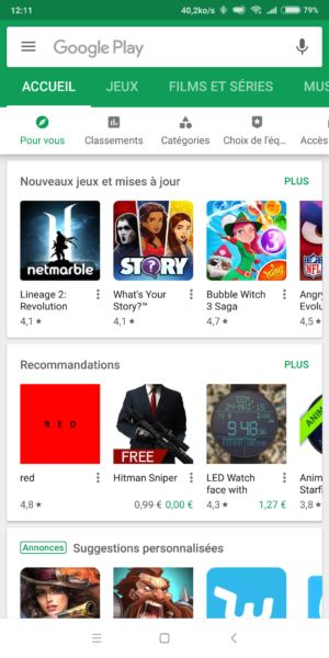 Installer une application Android depuis le Play Store
