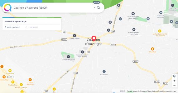 Qwant sort enfin sa map