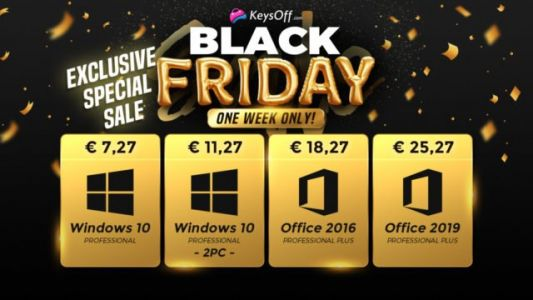 Promo Exclusives Black Friday:  Windows 10 à seulement 7,27 euros sur Keysoff.com