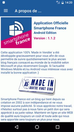 Smartphone France se dote enfin une application Android !