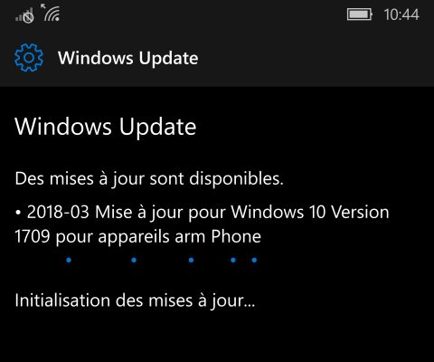 Mise à jour mensuelle de Windows Mobile disponible