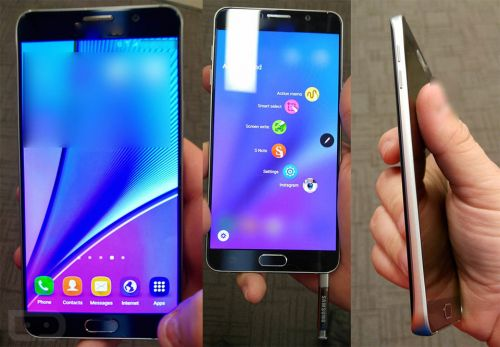 Fuite de photos du phablette Samsung Galaxy Note 5