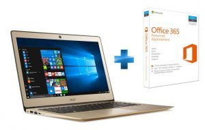 PC portable Acer Swift 3 SF314-51-302G Or + Microsoft Office 365 Personnel à 499.99 euros sur Rue du Commerce