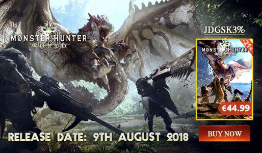 Monster Hunter World PC à partir de 43,64€ avec ce code !