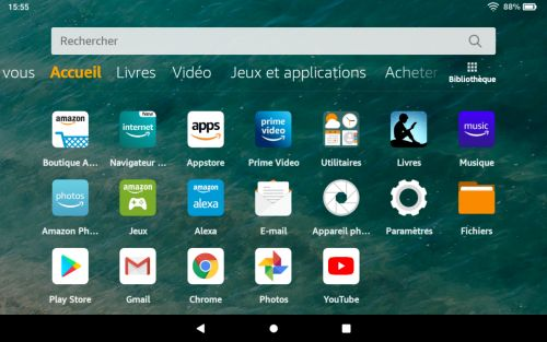 Amazon Fire HD 8 2020:  comment installer le Google Play Store