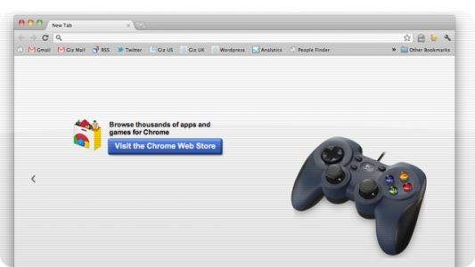 Support de Gamepad et de WebRTC par Chrome début 2012