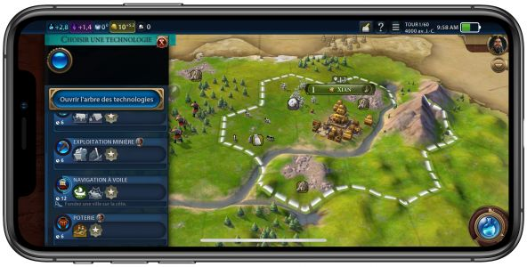 Civilization VI:  la simulation de « Allez ! Encore un tour » arrive sur iPhone