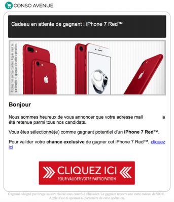 Gagnez un iPhone 7 Red