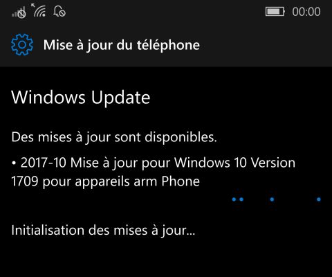 Windows 10 Mobile 'Fall Creators Update' soi-disant disponible