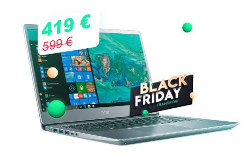 Le laptop Acer Swift 3 équipé d'un AMD Ryzen 5 descend à 419 € au lieu de 599 €
