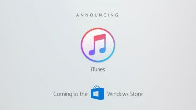ITunes arrive sur le Windows Store