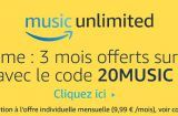 3 mois d'abonnement offerts à Amazon Music Unlimited