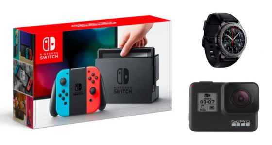 Nintendo Switch, GoPro Hero7 Black et Samsung Galaxy Watch à 239 euros pour le Black Friday de Rakuten