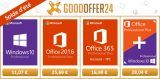 Bon Plan:  Windows 10 Pro à 11,07 €, Office 2016 Pro à 25,69 € et Office 365 Pro à 16,99 € sur Goodoffer24 !