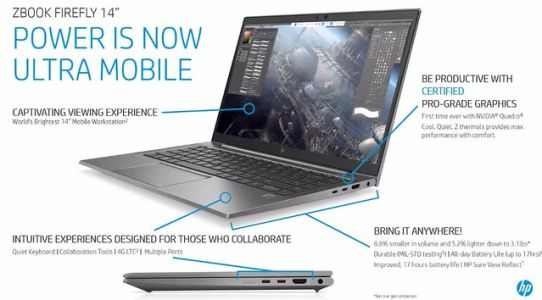 HP ZBook Firefly 14″, une station de travail ultracompacte