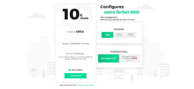 RED by SFR change de formule:  un seul forfait mobile et des options