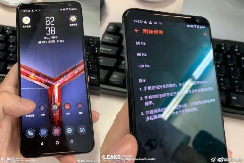 L'Asus ROG Phone 2 et son écran 120 Hz apparaissent en photo avant l'officialisation