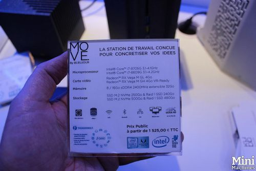 IT Partners 2019:  Bleujour MOVE, Core i7 et Radeon Vega