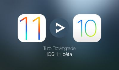 Tutoriel:  downgrade iOS 11 bêta vers iOS 10.3.2 / iOS 10.3.3