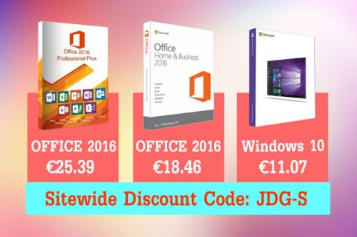 Windows 10 Professional à 11,07€, Office 2016 à 25,39€, Office 2016 Home and Student à 18,46€ !