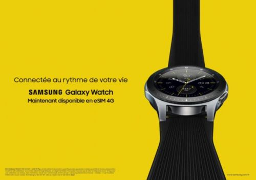 Samsung décline la Galaxy Watch en version 4G chez Orange