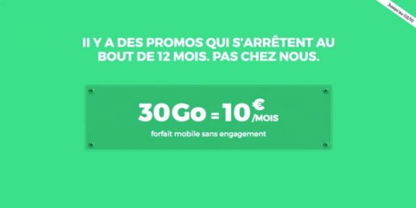 RED by SFR:  10€ par mois pour 30 Go de data, sans engagement