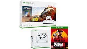 Bon plan - Xbox One S 1 To, 2 pads + Red Dead 2 + Horizon 4 à 260 €