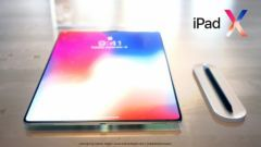Concept:  l'iPad Pro revu en version sans bordure, style iPhone X