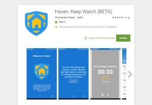 Haven:  l'application d'Edward Snowden peut détecter les intrus !