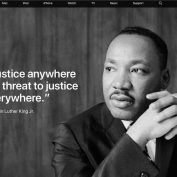 Apple rend hommage à Martin Luther King sur son site US