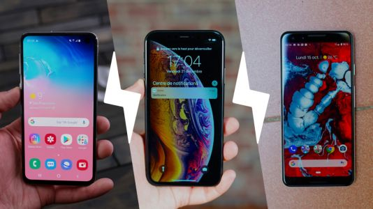 Samsung Galaxy S10e vs Apple iPhone XR vs Google Pixel 3:  comparatif du nouveau haut de gamme