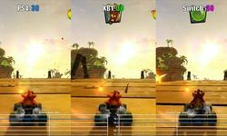 Crash Team Racing Nitro-Fueled:  comparaison en vidéo entre les versions PS4, Xbox One, Switch, PS4 Pro et Xbox One X
