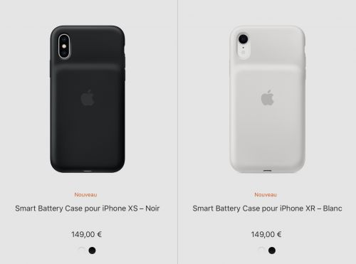 Apple lance des Smart Battery Case pour les iPhone 2018