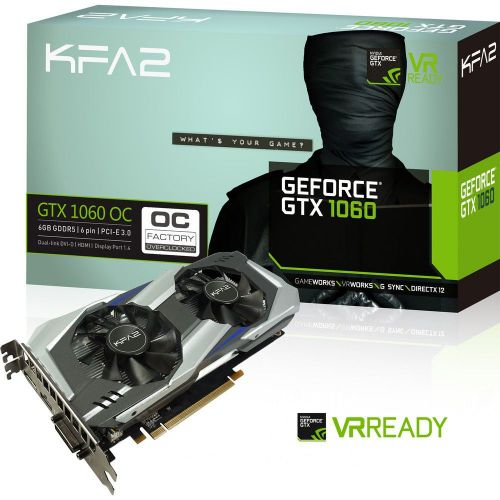 Bon plan - KFA2 GeForce GTX 1060 OC 6 Go à 219,87 €