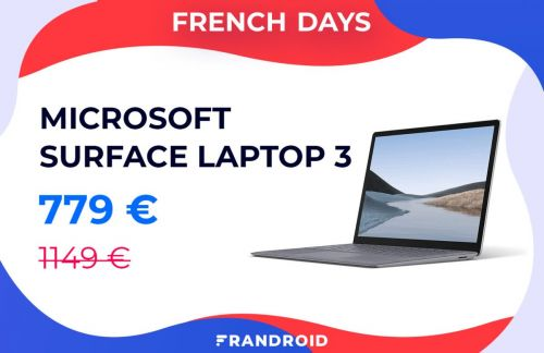 Le Microsoft Surface Laptop 3 passe à moins de 800 euros durant les French Days