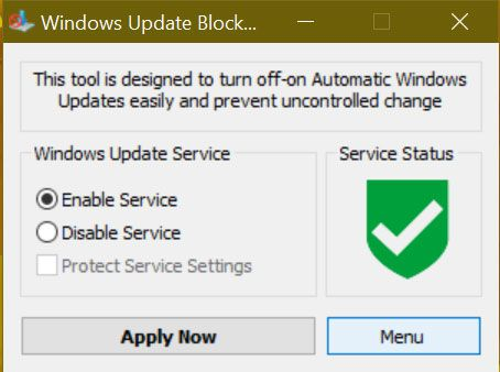 Windows 10 May 2019 Update, Windows Update Blocker v1.2 débarque